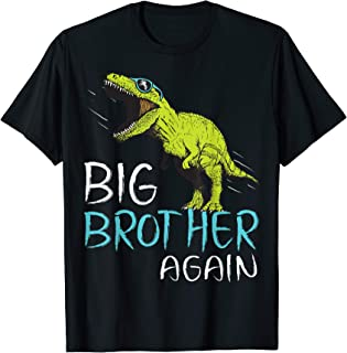 Big Brother Again Dinosaur T-Shirt for Boy and Toddler T-Shirt