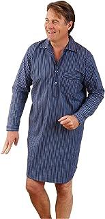 Mens Sleepwear Lounge Wear Harrow Nightshirt Brushed Cotton Rich Boys Casual Sleep Wear Fancy Long Sleeved Front Button Ni...
