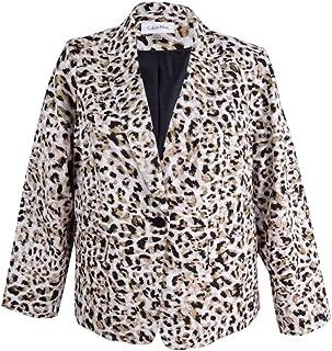 Women's Petite Leopard-Print Blazer