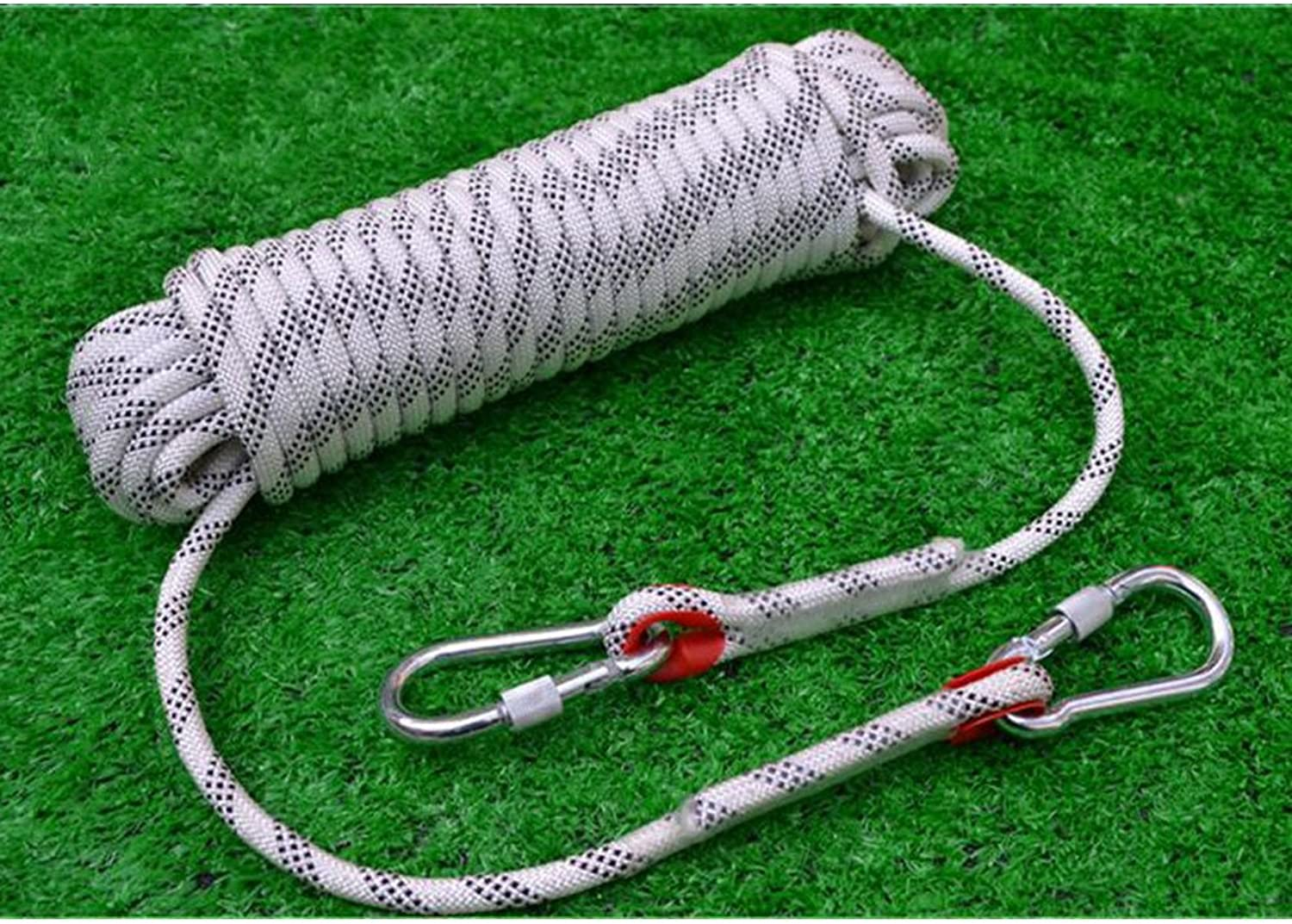 Rock Climbing Rope, Outdoor, Security, Mountaineering, Falling Down, Rescue Rope, Home Escape Rope, Static Rope,White15m16mm
