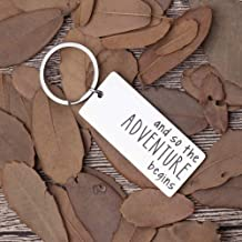 New Journey-Keychain-Retirement-Gift-College Care Package for Daughter The Adventure Begins New Job Life Next Chapter Divorce Gifts for Women Men Friends Coworkers Graduation for Him Her