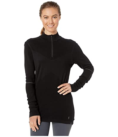 Smartwool Intraknit Merino 250 Thermal 1/4 Zip (Black) Women
