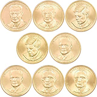 2015 P&D $1 Presidential Dollar 8 Coin Set Lot Uncirculated Mint State