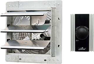 iLiving 10 Inch Wall Mounted Shutter Exhaust Fan + Fan Speed Controller 120V 8A