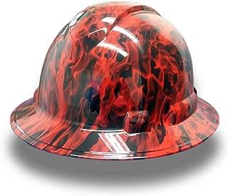 Izzo Graphics Red Fire Pyramex Ridgeline Full Brim Hard Hat