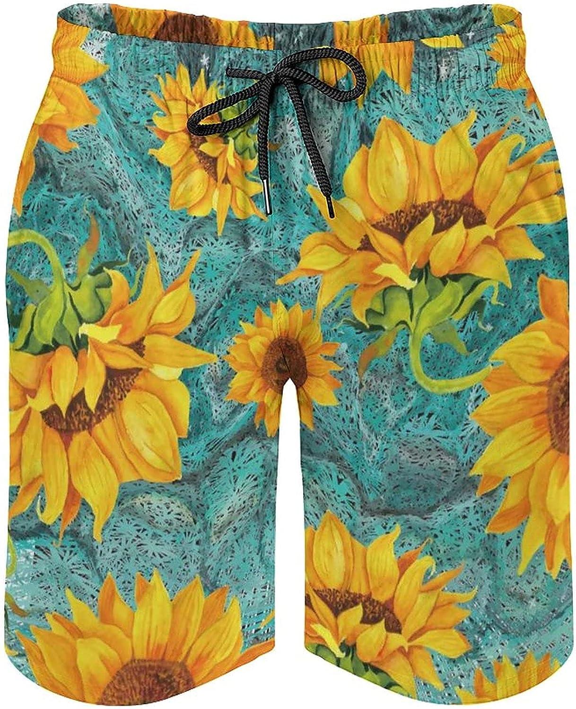 by Unbranded Men's Seaside Board Shorts Kaufman Everyday Favorites Collage Lavender