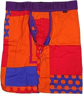 【Paul Smith】ポールスミス 「POP」クレイジーパターン ロングボクサーパンツ 橙 size M