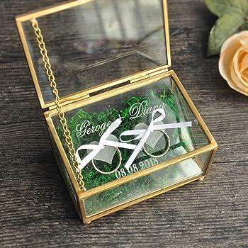 Bague de Mariage Porteur Boîte Oreiller Alternative les anneaux de mariage rouge//or Book Box