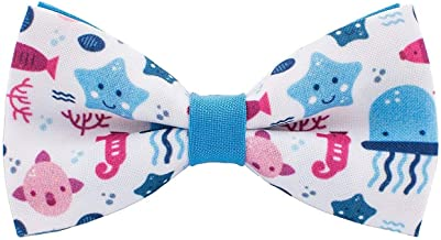 Jellyfish ocean pattern bow tie unisex pre-tied shape, by Bow Tie House