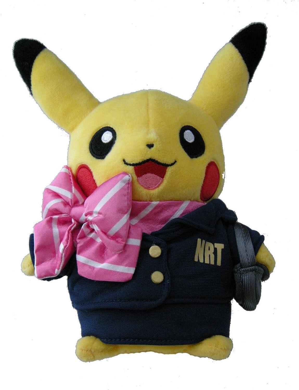 Stuffed Flight Attendant Pikachu Pokemon Center Tokyo Narita Airport Limited