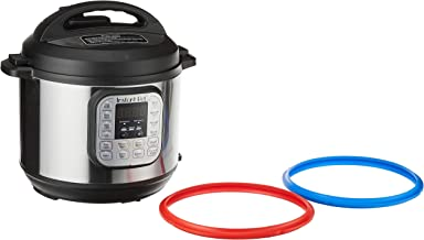 Instant Pot Duo 7-in1 Electric Pressure Cooker, Twin Pack Sealing Rings (Red and Blue)