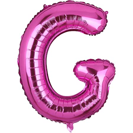40 Inch Large Pink Letter H Foil Balloons Hellium Girls Big Alphabet Mylar Balloon for Birthday Party Decoration Custom Word HH JPink H
