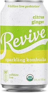 Revive Sparkling Kombucha (Citrus Ginger, 12-Pack)