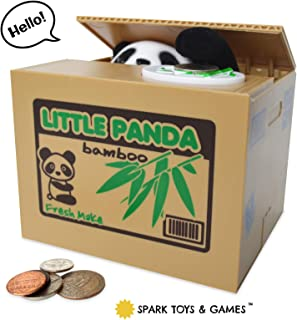 automated panda steal coin bank