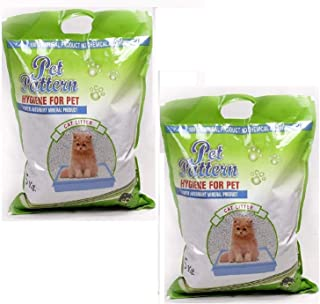 Pawstively Pet Care Pet Pattern Natural Super Absorbent Mineral Cat Litter Hygiene for Pet (5 Kg) Pack of 2