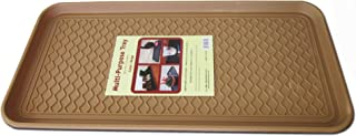 Multi-purpose Tray for Boots Shoes Paint Pets Garden Laundry Kitchen Pantry Car Garage, Mudroom. Indoor-outdoor Storage and Floor Protection, Cat Litter Mat Dog Feeding Mat - 30x15x1.2 Inches (Beige)