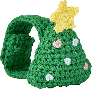 Stephan Baby Cotton Crochet Christmas Rattle Wristlet, Tree