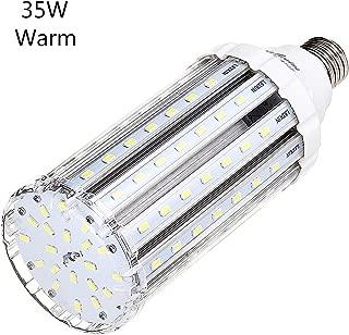 35W Warm White LED Corn Light Bulb for Indoor Outdoor Large Area - E26 Socket 3500Lm 3200k,for Home Street Lamp Post Lighting Garage Factory Warehouse High Bay Barn Porch Backyard Garden Super Bright