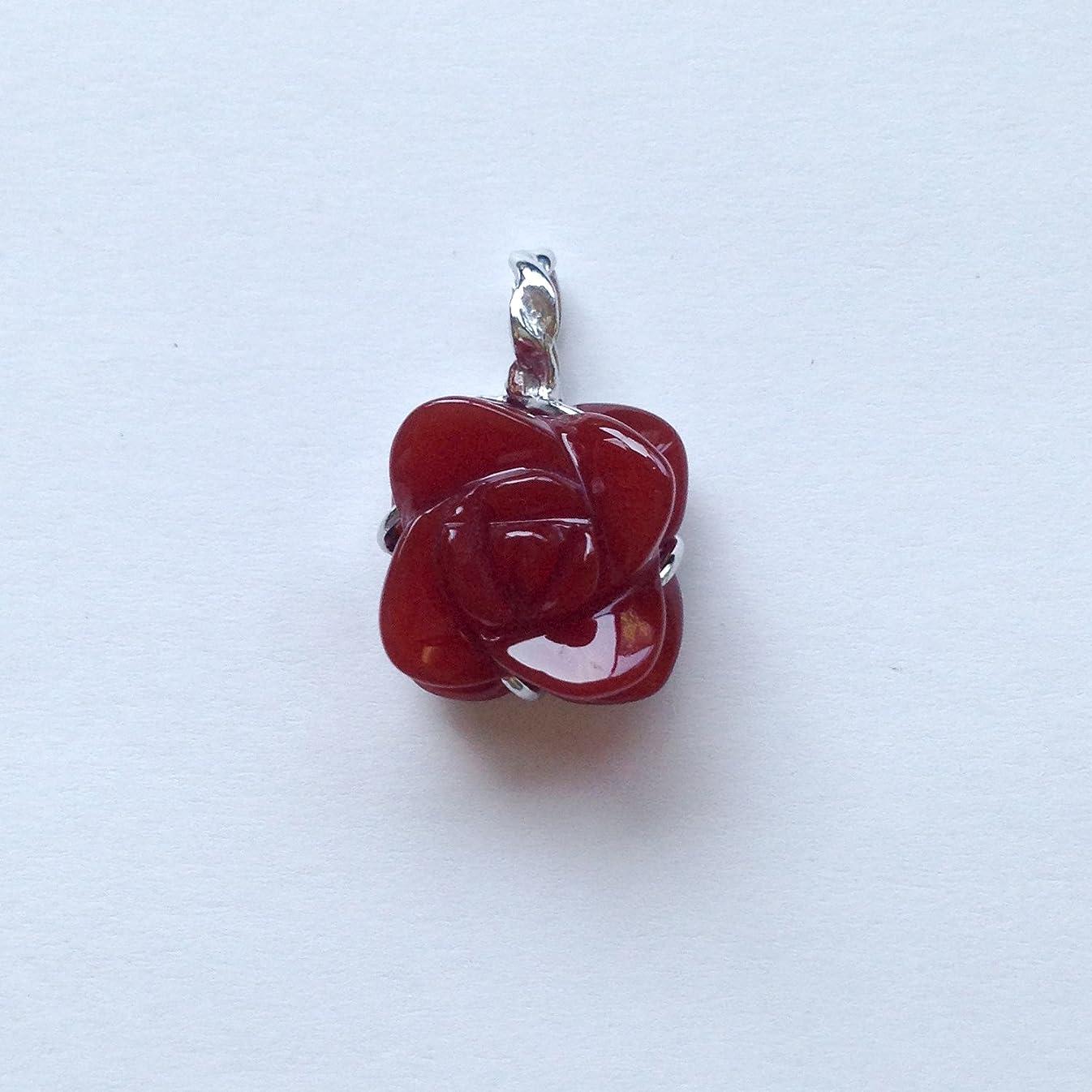 個人的な一時停止無効にする香る宝石SV赤メノウペンダント通常¥26,800の所 (Ag925)
