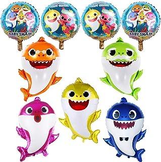 ELECDON Shark Baby Balloons Party Supplies Helium baby shark party balloons Balloons for Sea World Shark Kids Baby Themed ...