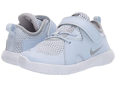Nike Kids Flex Contact 3 (Infant/Toddler) (Half Blue/Black/Metallic Silver/White) Kids Shoes
