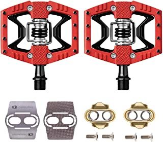 CRANKBROTHERs Crank Brothers Double Shot 3 Bike Pedals Pair (Choose Your Color) with Premium Cleats and Shoe Shields Set for Traction
