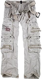 Surplus Uomo Royal Traveler Trousers Royal White Taglia 4XL