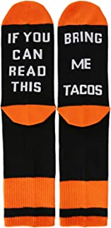 If You Can Read This Novelty Funny Saying Beer Crew Socks, Women's Christmas Gift