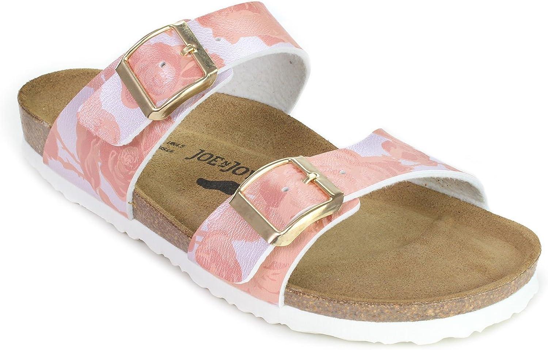 JOE N JOYCE Sevilla SynSoft Soft-Footbed Sandals Metallic pinks