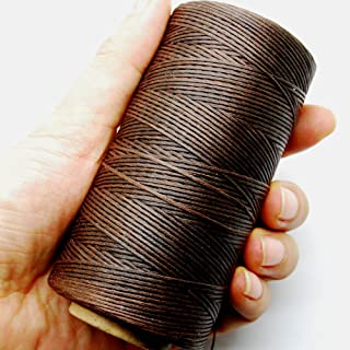 Dow ILJILU 284yrd deep brown Leather Sewing Waxed Thread 150D 1mm Leather Hand Stitching 125g