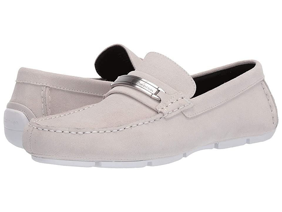 Calvin Klein Kolton (White Hatched Embossed Calf Suede) Men