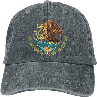 Kkidj Ooii Coat of Arms of Mexico Cowboy Cap Unisex Adjustable Snapback Baseball Hat Deep Heather