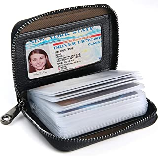 Credit Card Wallet, Leather RFID Wallets for Women Men with 20 Slots Credit Card Holder