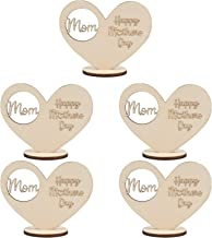 KESYOO 5pcs Wood Tealight Candle Holder Mothers Day Heart Pedestal Table Container Wooden Candlestick Romantic Decor for D...