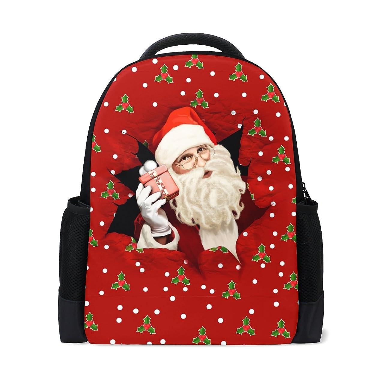 農民ディンカルビルモッキンバードマキク(MAKIKU) リュック 大容量 おしゃれ レディース 軽量 メンズ 通学 クリスマス サンタクロース レッド 高校生 中学生 リュックサック プレゼント対応