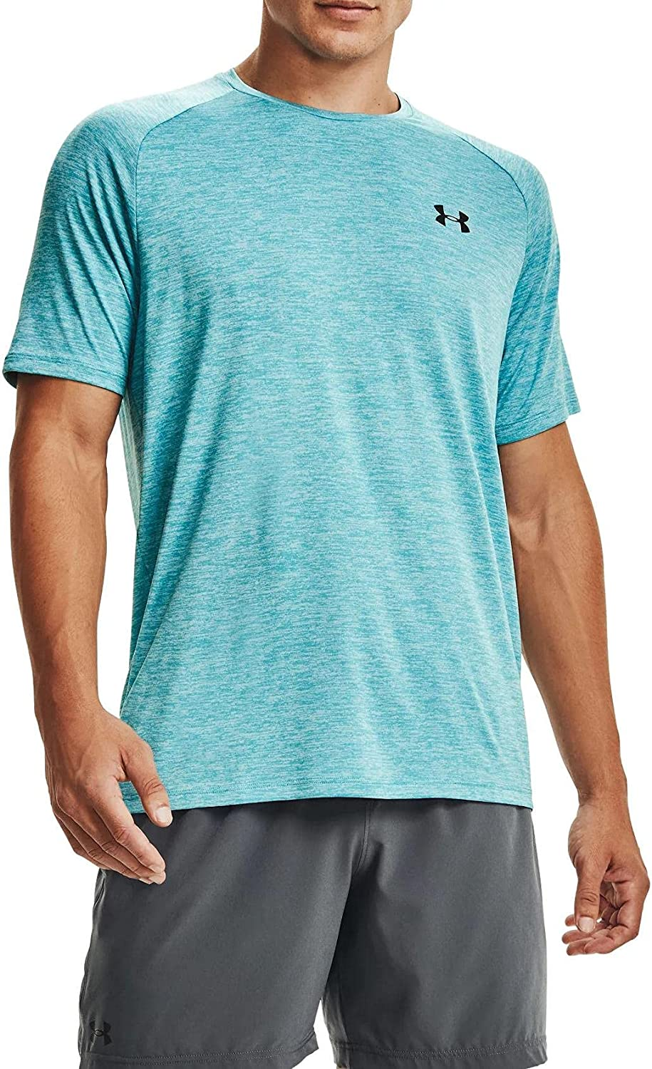 Under Armour Men's Tech 2.0 Short Sleeve Tee Cosmo/Black Large Tall