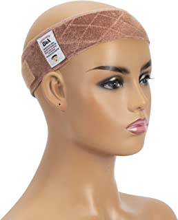 GEX Wig Grip Band Adjustable Wig Comfort Band with Adjustable Hook and Loop Fastener Non Slip Breathable Thin Head Hair Band to Keep Wig Secured and Prevent Headaches (Tan)