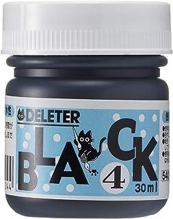 DELETER Manga Ink, Black 4, Versatile, Marker & Water Proof Extra Black Ink, Matte Black, 30ml/bottle, 1 Bottle (341-0005)