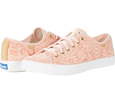 Keds Kickstart Tapestry (Peach Flocked Canvas) Women