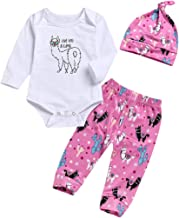 3Pcs Infant Baby Girls Cactus Outfits Litle Sister I Love You Llama Romper Bobysuit+Floral Legging Pants Clothes Set