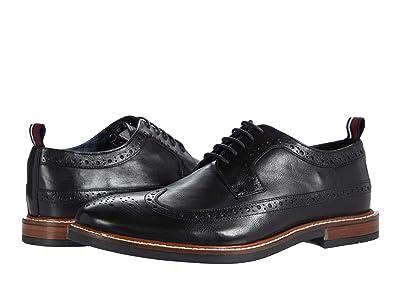 Ben Sherman Birk Long Wing Tip (Black Leather) Men