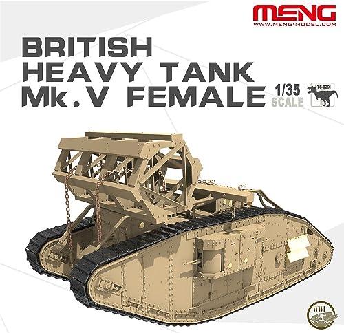 moda Unbekannt Meng TS de 029 Maqueta Maqueta Maqueta de British Heavy Tank MK V Female  selección larga