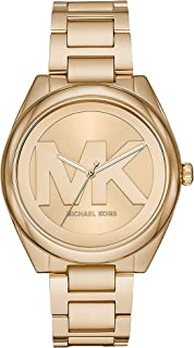 Michael Kors Women's Janelle Three-Hand Gold-Tone Stainless Steel Watch MK7086