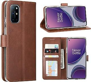 DDJ Case voor OnePlus 8T Wallet Phone Case Multifunctioneel lichtgewicht Pu leer met magnetische knop [Waterbestendig] [St...