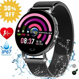 Jupitaz Smart Watch for Women, Fitness Tracker Activity Tracker with Heart Rate Blood Pressure Sleep Monitor IP67 Waterproof Step Counter Sleep Monitor Smartwatches for Android & iPhone