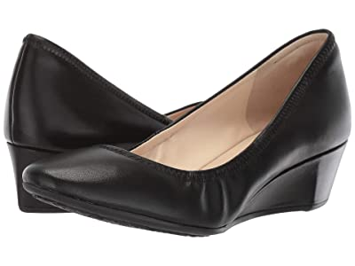 Cole Haan 40 mm G.OS Sadie Wedge (Black Leather) Women