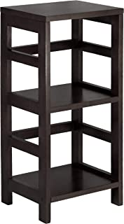 Winsome 92314-WW Leo Model Name Shelving, Tall, Espresso