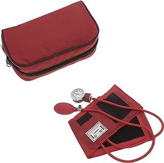 Manual Blood Pressure Monitor BP Cuff Gauge Aneroid Sphygmomanometer Machine Kit (Red)