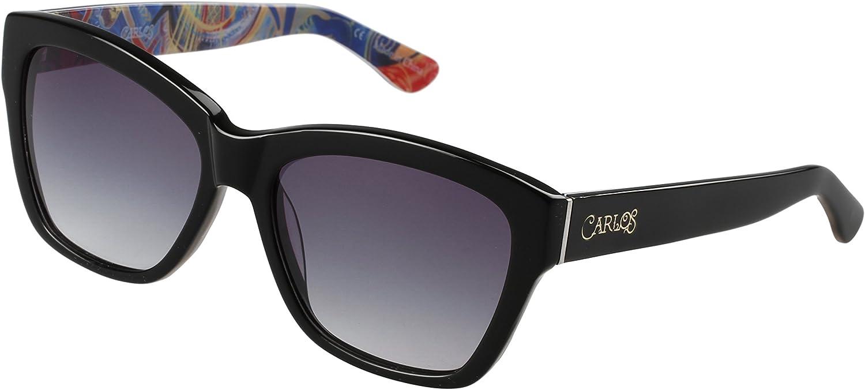 Carlos by Carlos Santana Polarized Sunglasses, Amara, Gloss Black, Size 56mm