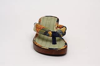 [株式会社ハセガワ] 普段着や浴衣にも似合う 畳素材を使用した「和柄サンダル」 (紫・紺・茶) M・Lサイズ【日本製】